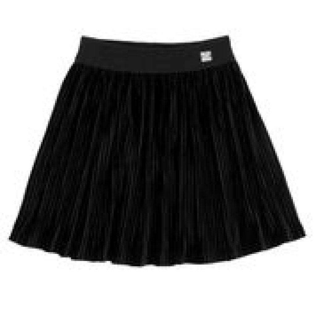 jupe plissée en velours