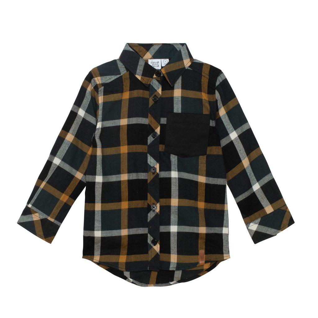 chemise à carreaux avec poche